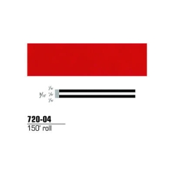 "3M Striping Tape, Red, 3/16"" x 150'"