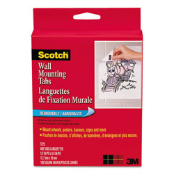 3m Scotch Precut Removable Mounting Tabs Double Sided