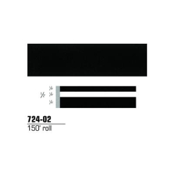 "3M Striping Tape, Black, 1/2"" x 150'"