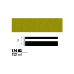 "3M Striping Tape, Gold Metallic, 1/2"" x 150'"