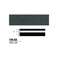 "3M Striping Tape, Charcoal Metallic, 1/2"" x 150'"