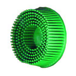 "Scotch 3"" Roloc Bristle Discs 50 Grit Coarse Green"