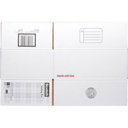 "3M Mailing Box, Size C, Labels Included, 14"" x 10"" x 5-1/2"" White"