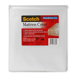 "3M Clear King/Queen Mattress Cover, 76"" x 94"" x 9 1/2"""