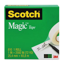 "Scotch Magic Tape, 1"" x 1296"", 1"" Core, Clear"