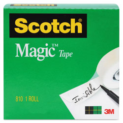 "Scotch Magic Tape, 3/4"" x 1000"", 1"" Core, Clear"