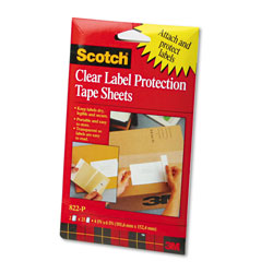 Scotch ScotchPad Label Protection Tape Pads, 4 x 6, 25/Pad, 2 Pads/Pack