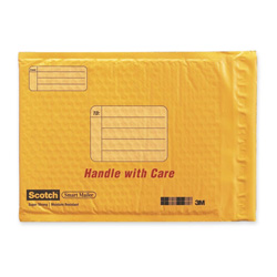 "3M Mailer, Plastic Coated Bubble, 8 1/2""x11"", Self Seal Closure"