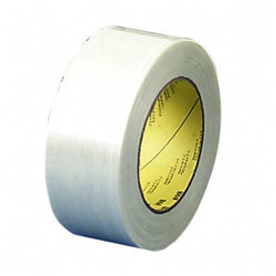 "3M High Performance Filament Tape, Natural Rubber Adhesive, 12mm x 55m, 3"" Core"