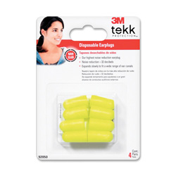 3M Earplugs, Disposable, 4PR/PK, Yellow