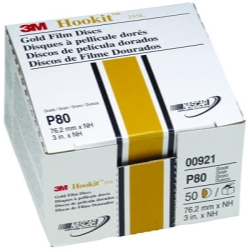"3M 3"" Hookit Gold Disc, 50 Discs per Box"
