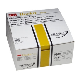 "3M 6"" Hookit Finishing Film Disc, 100 Discs per Box"