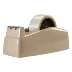 "Scotch Two-Roll Desktop Tape Dispenser, 3"" Core, High-Impact Plastic, Beige"