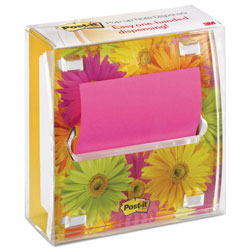 Post-it® Pop-up Note Dispenser with Designer Daisy Insert, One 45-Sheet Pad,