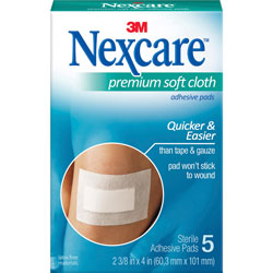 "3M H3564 Hypoallergenic 3 Ply Adhesive Gauze Pad Medical Bandages, 2 3/8"" x 3"""
