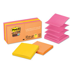 Post-it® Pop-up 3 x 3 Note Refill, Rio de Janeiro, 90 Notes/Pad, 10 Pads/Pack