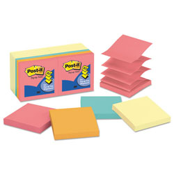 Post-it® Original Pop-up Notes Value Pack, 3 x 3, Canary Yellow/Cape Town, 100-Sheet