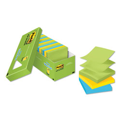 Post-it® Ultra Pop-Up Note Refills, 3 x 3, Assorted Colors, 18 100-Sheet Pads/Pack