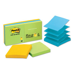 Post-it® Pop Up 3 x 3 Note Pad Refills, Ultra Colors, 6/Pack