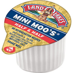 Dean Foods Mini Moo's Half & Half, .5 oz, 192/Carton