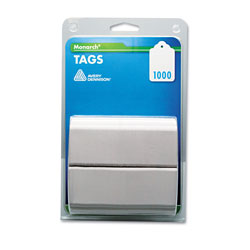 "Monarch Refill, Tags, Plain, 1 1/8""x1 3/4"", 1000/Pack, White"