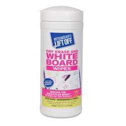 "Lift Off® Dry Erase Cleaner Wipes, 7"" x 12"""
