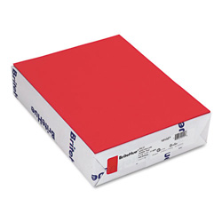 Mohawk/Strathmore Papers Text Paper, Red, 8 1/2 x 11, 24 lb., 500 Sheets/Ream