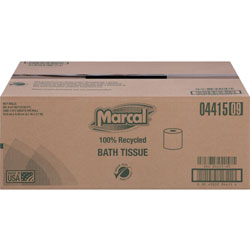Marcal Small Steps 100% Recycled 1-Ply Bath Tissue, 1000 Sheets/Roll, 40 Rolls/Carton