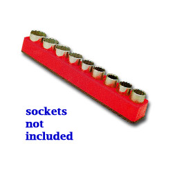 "Mechanics Time Saver 1/2"" Drive Magnetic Rocket Red Socket Holder 10 19 mm"
