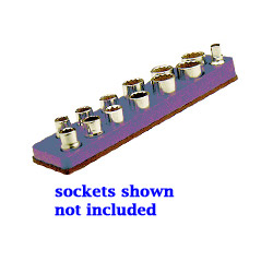 "Mechanics Time Saver 3/8"" Drive Magnetic Purple Socket Holder 5.5 to 22 mm"