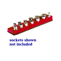 "Mechanics Time Saver 3/8"" Drive Magnetic Rocket Red Socket Holder 5.5 to 22 mm"