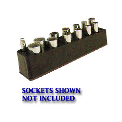 "Mechanics Time Saver 3/8"" Drive Deep Black Socket Holder 5.5 to 22 mm"