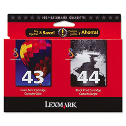 Lexmark Combo Pack #43 + #44 - Print Cartridge