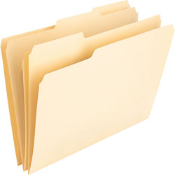 Nature Saver File Folders, 1 Ply, 11Pt., 1/3 Cut Assorted Tab, Letter, Manila