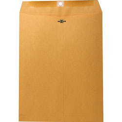 "Nature Saver Clasp Envelope, 28Lb, 10""x13"", 100/BX, Natural Kraft"