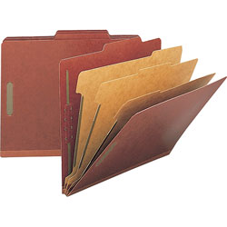 Nature Saver 01052 Classification Folder, Letter, 3 Partitions, Red