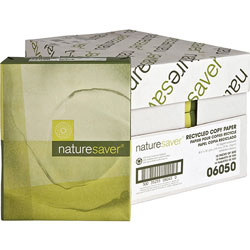 Nature Saver Recycled Copy Paper, 8 1/2 x 14, 92 Bright, 20 lb, Carton of 10 Reams