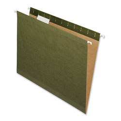 Nature Saver Hanging File Folders, Recycled, 1/5 Cut, Letter, Green