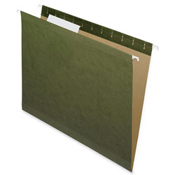 Nature Saver Hanging File Folders, Recycled, 1/3 Cut, Letter, Green