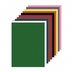 "Nature Saver Construction Paper, Smooth Texture, 9""x12"", Assorted Colors"