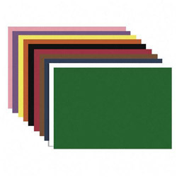 "Nature Saver Construction Paper, Smooth Texture, 12""x18"", Assorted Colors"