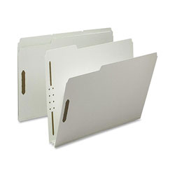 Nature Saver Pressboard Fastener Folder, 25 Pt, 2 Expandable, 1/3 Tab, Letter, 25/Box