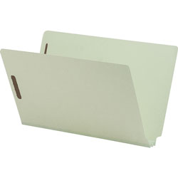 "Nature Saver End Tab Pressboard Fastener Folder, 2"" Expandable, Legal, 25/Box, Gray"