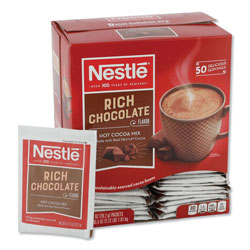Nestle Hot Chocolate Mix, Rich Chocolate, 1 Oz Packets, 50/BX