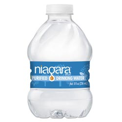 Niagara Drinking Water Purified Drinking Water, 8 oz Bottle, 24/Pack, 3840/Pallet