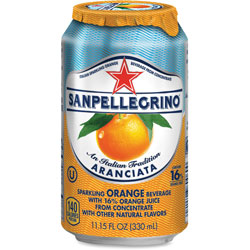 Nestle Sparkling Fruit Beverages, Aranciata (Orange), 11.15 oz Can, 12/Carton