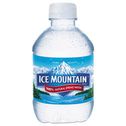 Ice Mountain Natural Spring Water, 8 oz Bottle, 48/Carton