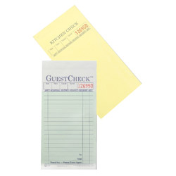 National Check GuestCheck 2 Part 16 Line Food Service Pad