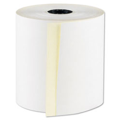 "National Check RegistRolls Two-Part Carbonless POS Rolls, 3"" x 100', White, 30/Carton"