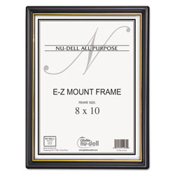 Nudell Plastics EZ Mount Document Frame, 8 x 10, Black